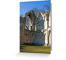 Ruins of St Mary's Abbey  -  York #5 Greeting Card