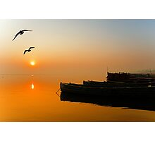 The Holy Ganga and the Sunrise Photographic Print