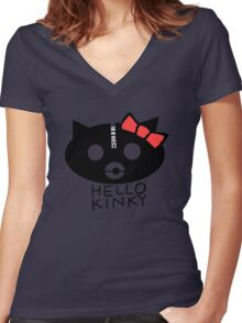 Hello Kinky! Women's Fitted V-Neck T-Shirt