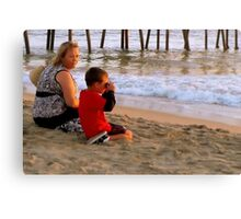 In A Setting Sun a New Photographer is Born Canvas Print