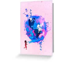 Bubble Earth Greeting Card