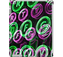 Neon typewriter keys close up iPad Case/Skin