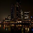 Melbourne by night 02 [r] by DavidsArt