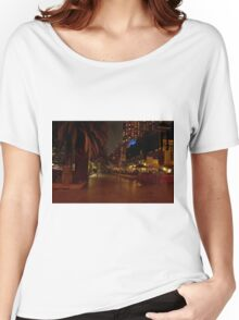 Melbourne at Night 03 [r] Women's Relaxed Fit T-Shirt