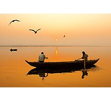 The Holy Ganga and the Morning Time. Photographic Print