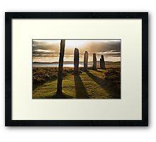 Shadows at Brodgar (Orkney Isles) Framed Print