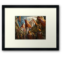 The Knight's Homecoming  Framed Print