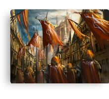 The Knight's Homecoming  Canvas Print