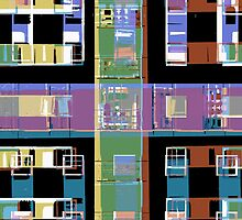 Abstract city apartments by steveball