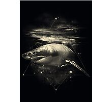 Shark in Space Photographic Print