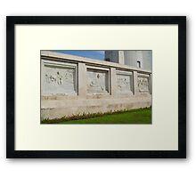 Quezon Memorial Circle carvings 2 Framed Print