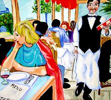 Diners at La Lutetia! by Rusty  Gladdish