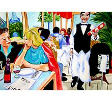 Diners at La Lutetia! Photographic Print