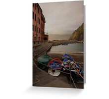 Vernazza harbor Greeting Card
