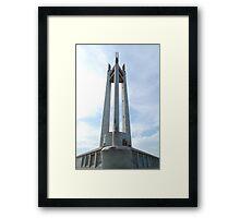 Quezon Memorial Circle monument 5 Framed Print