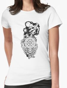 The astronaut Womens Fitted T-Shirt