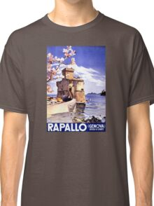 Rapallo Genova Italy Vintage Travel Poster Classic T-Shirt