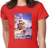 Rapallo Genova Italy Vintage Travel Poster Womens Fitted T-Shirt