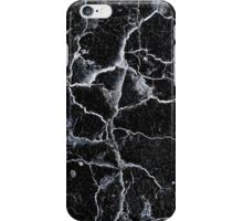Cracked black wall background iPhone Case/Skin