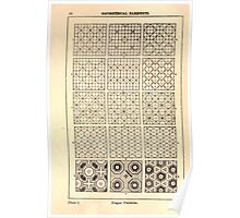A Handbook Of Ornament With Three Hundred Plates Franz Sales Meyer 1896 0026 Geometrical Elements Diaper Patterns Poster