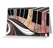 Piano Roll Greeting Card