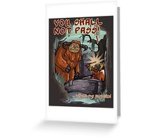 Without my permission! Greeting Card