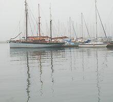 Moorings in the mist by StephenRB
