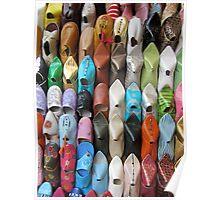Moroccan Footwear Poster