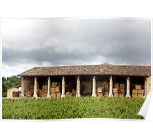 Barrels of Bordeaux  Poster