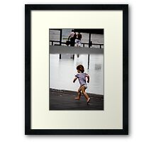 Child at Play in Bordeaux Framed Print