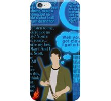 Stiles Stilinski Quotes iPhone Case/Skin