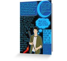 Stiles Stilinski Quotes Greeting Card