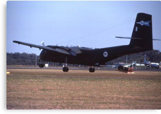 Caribou Parachute Drop @ Williamtown Airshow 1976 by muz2142