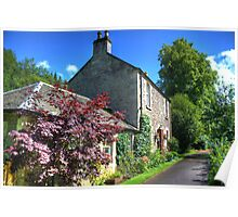 Cottage at New Lanark Poster