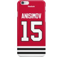 Chicago Blackhawks Artem Anisimov Jersey Back Phone Case iPhone Case/Skin