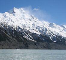 Mount Cook viewed from Tasman Glacier lake - New Zealand by Nicola Barnard