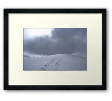 Snowy Footprints Framed Print