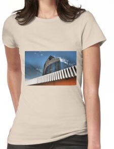 Glancing Up Womens Fitted T-Shirt