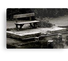 Empty bench at Silent Pool Metal Print