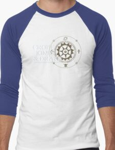 C J & D Men's Baseball ¾ T-Shirt
