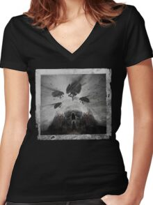 Don't Let The Dark Into Me Women's Fitted V-Neck T-Shirt