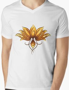 Bright lotus Mens V-Neck T-Shirt