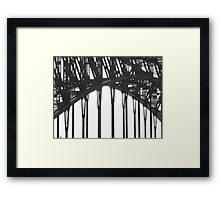 06 Black & White Sydney Harbour Bridge Framed Print