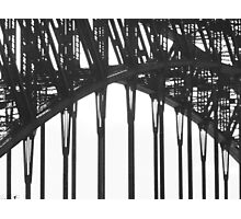 Black & White Sydney Harbour Bridge Photographic Print