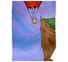 Cliffhanger - Scene with a Balloon and a Cliff Poster