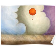 Balloon in the Colored Clouds Poster