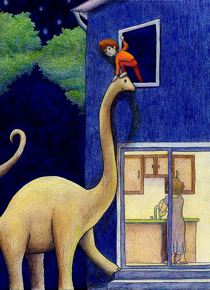 The Great Escape! (At Night via Brontosaurus) by Tim Gorichanaz