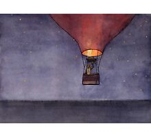 Nighttime in a Balloon over the Ocean Photographic Print