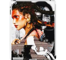Indian Warrior is not affected by howling wolves around her! iPad Case/Skin
