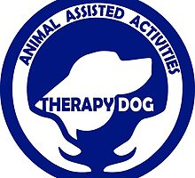 Animal Assisted Activities  - THERAPY DOG logo 1 blue by SofiaYoushi